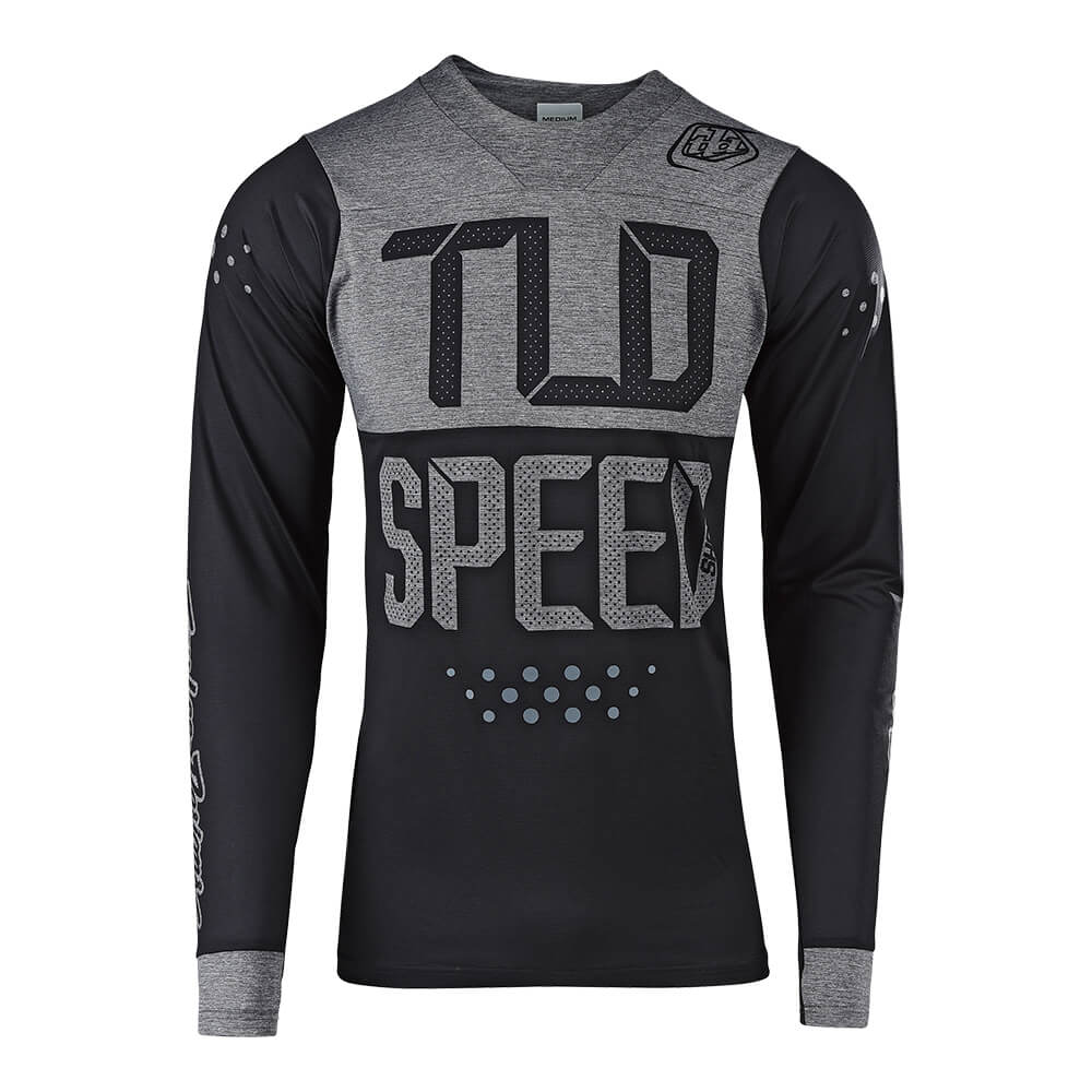 SKYLINE LS JERSEY SPEEDSHOP BLACK / HEATHER GRAY
