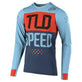 SKYLINE LS JERSEY SPEEDSHOP STONE BLUE / CLAY