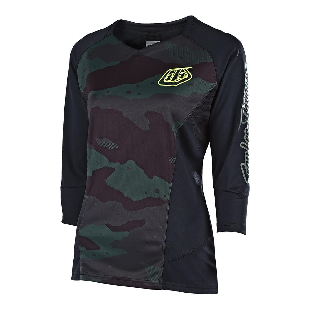 WOMENS RUCKUS 3/4 JERSEY CAMO BLACK / GREEN