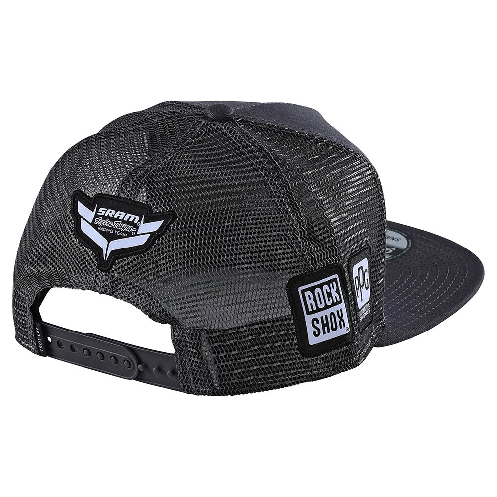 SNAPBACK HAT SRAM RACING BLOCK DARK CHARCOAL
