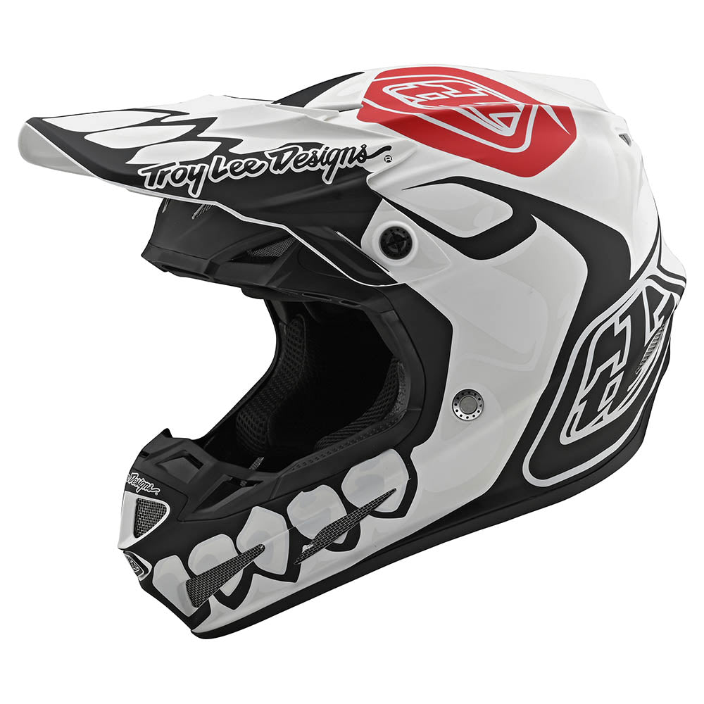SE4 COMPOSITE HELMET W/MIPS SKULLY WHITE / BLACK