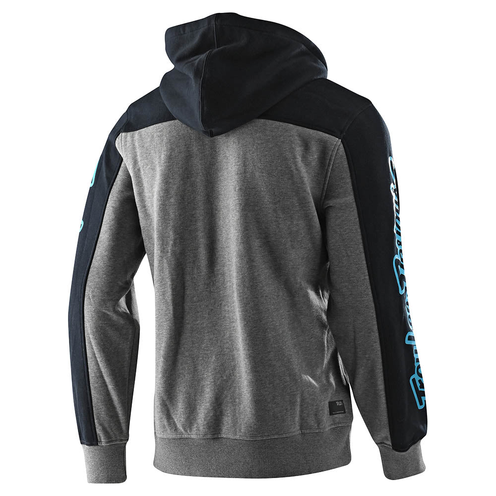 PULLOVER HOODIE BLOCK SIGNATURE GRAY HEATHER / BLUE
