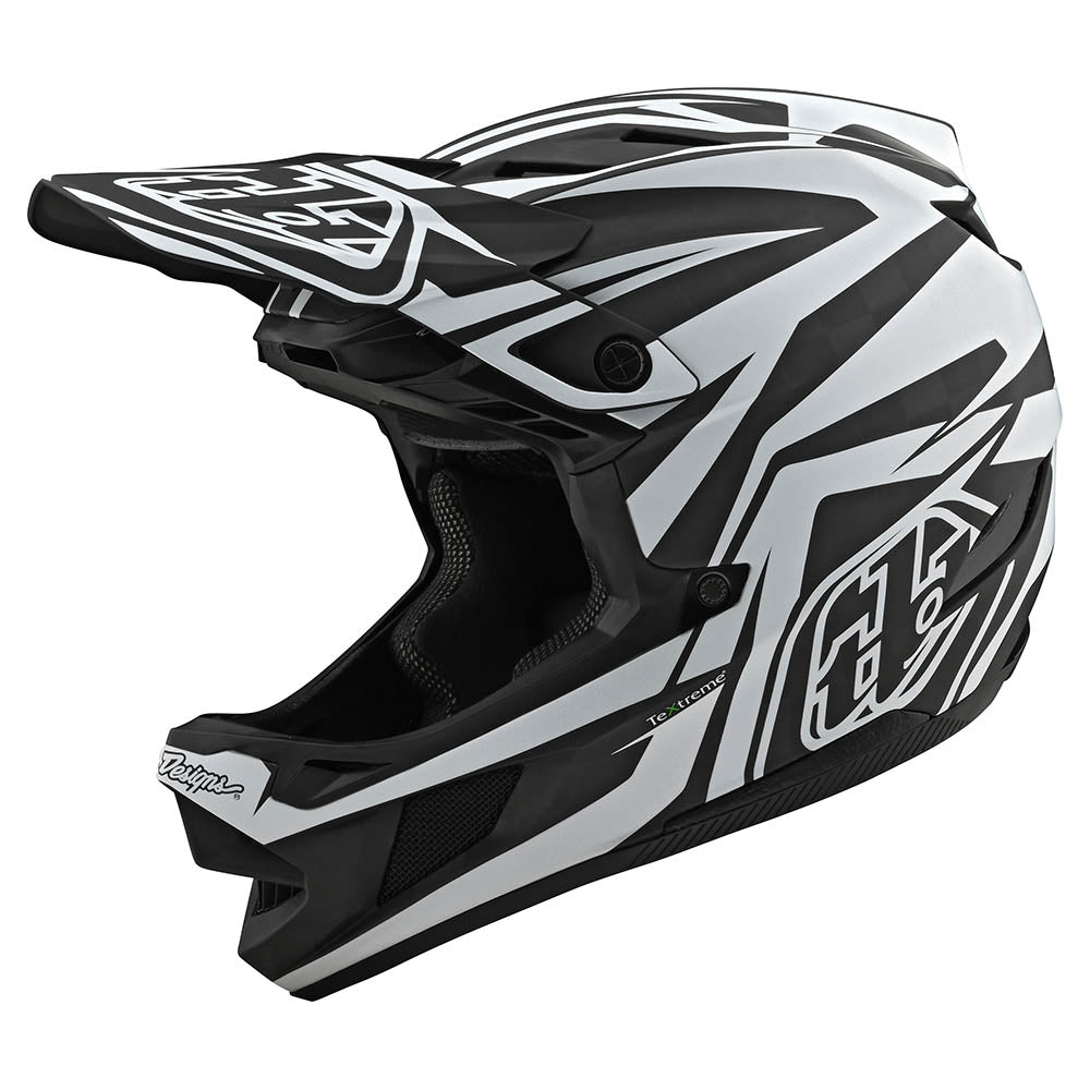 D4 CARBON HELMET W/MIPS SLASH BLACK / WHITE
