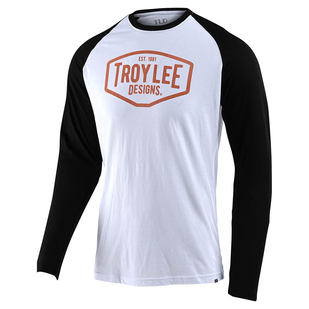 LONG SLEEVE RAGLAN MOTOR OIL WHITE / BLACK