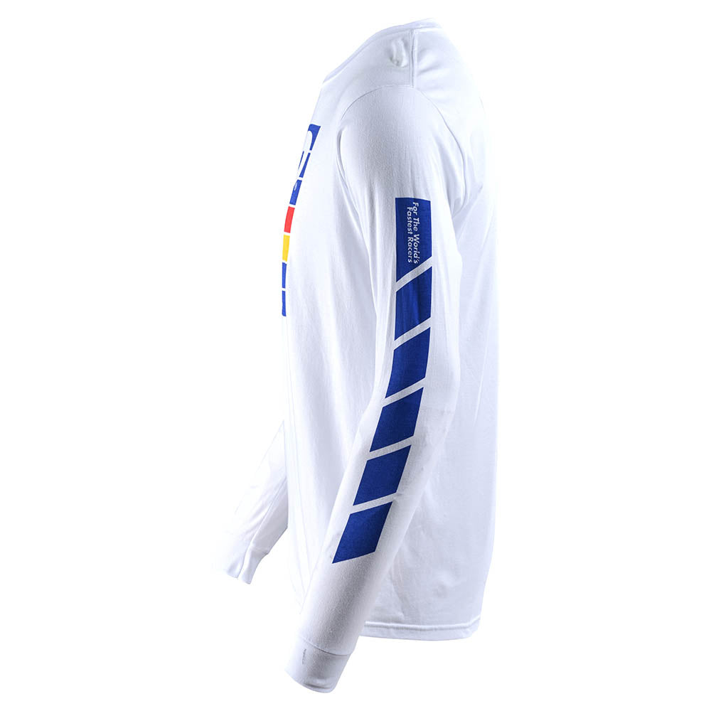 LONG SLEEVE TEE PREGAME WHITE