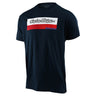 SHORT SLEEVE TEE RACING BLOCK FADE NAVY