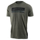 SHORT SLEEVE TEE RACING BLOCK FADE SAGE BLACK HEATHER