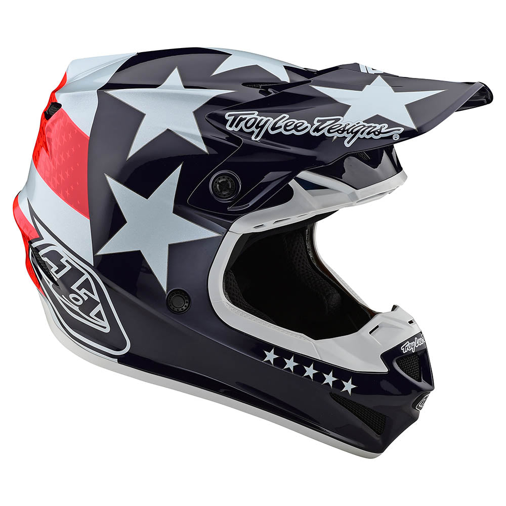 SE4 POLYACRYLITE HELMET W/MIPS FREEDOM RED / WHITE