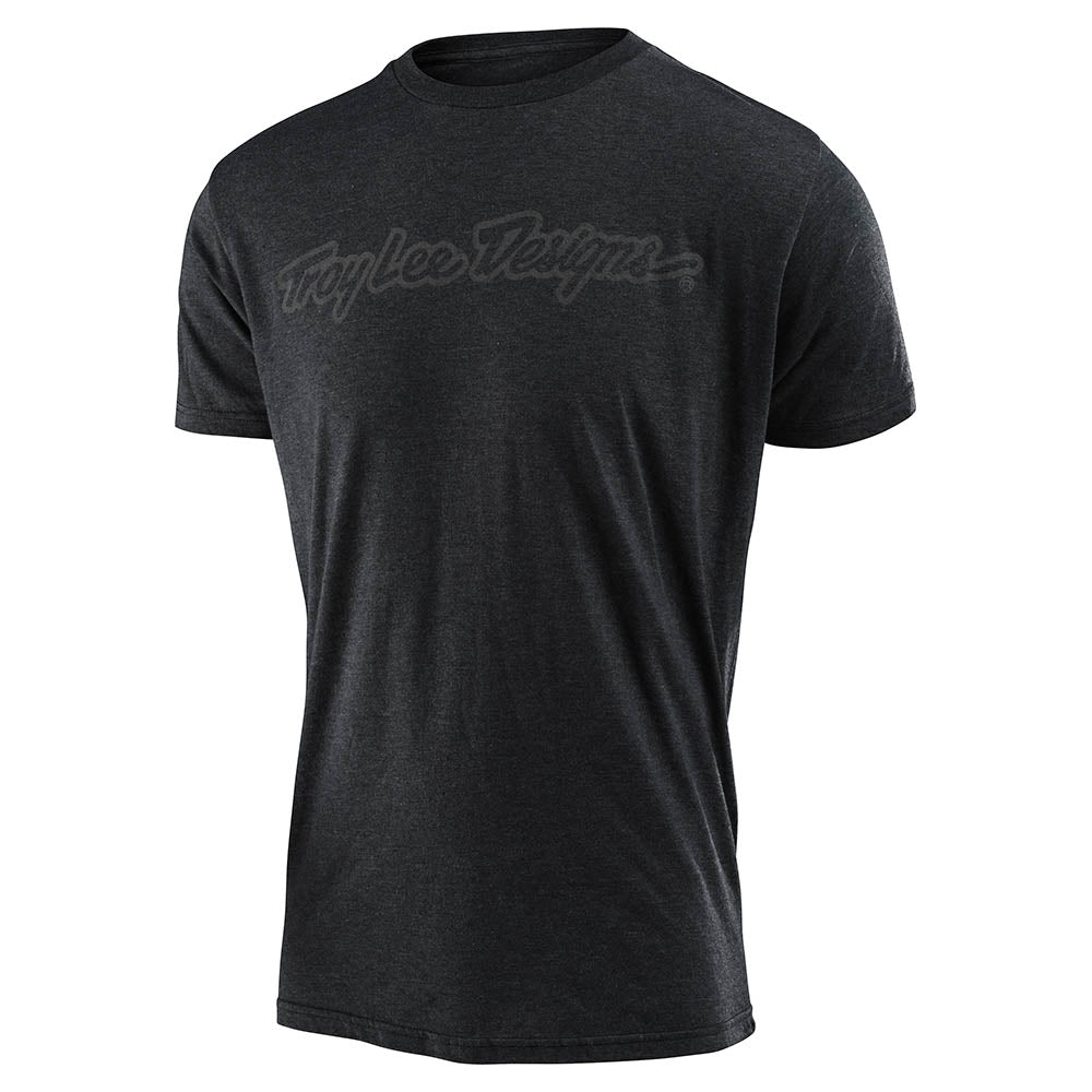 SHORT SLEEVE TEE SIGNATURE CHARCOAL HEATHER