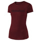WMNS SHORT SLEEVE TEE SIGNATURE MAROON