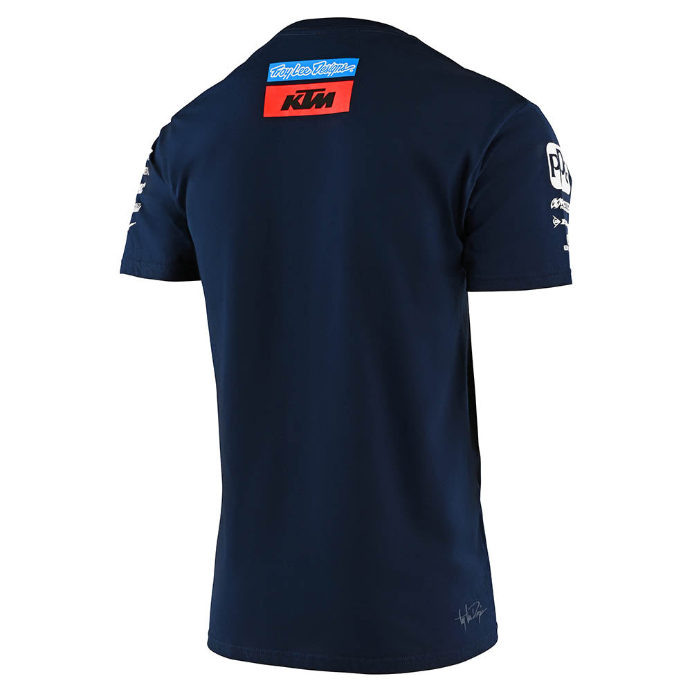 YOUTH SHORT SLEEVE TEE 2020 TLD KTM TEAM NAVY