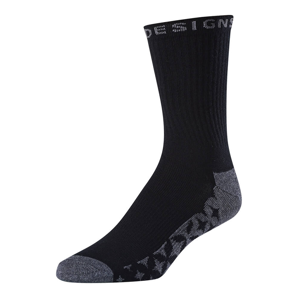 CREW SOCK STARBURST BLACK