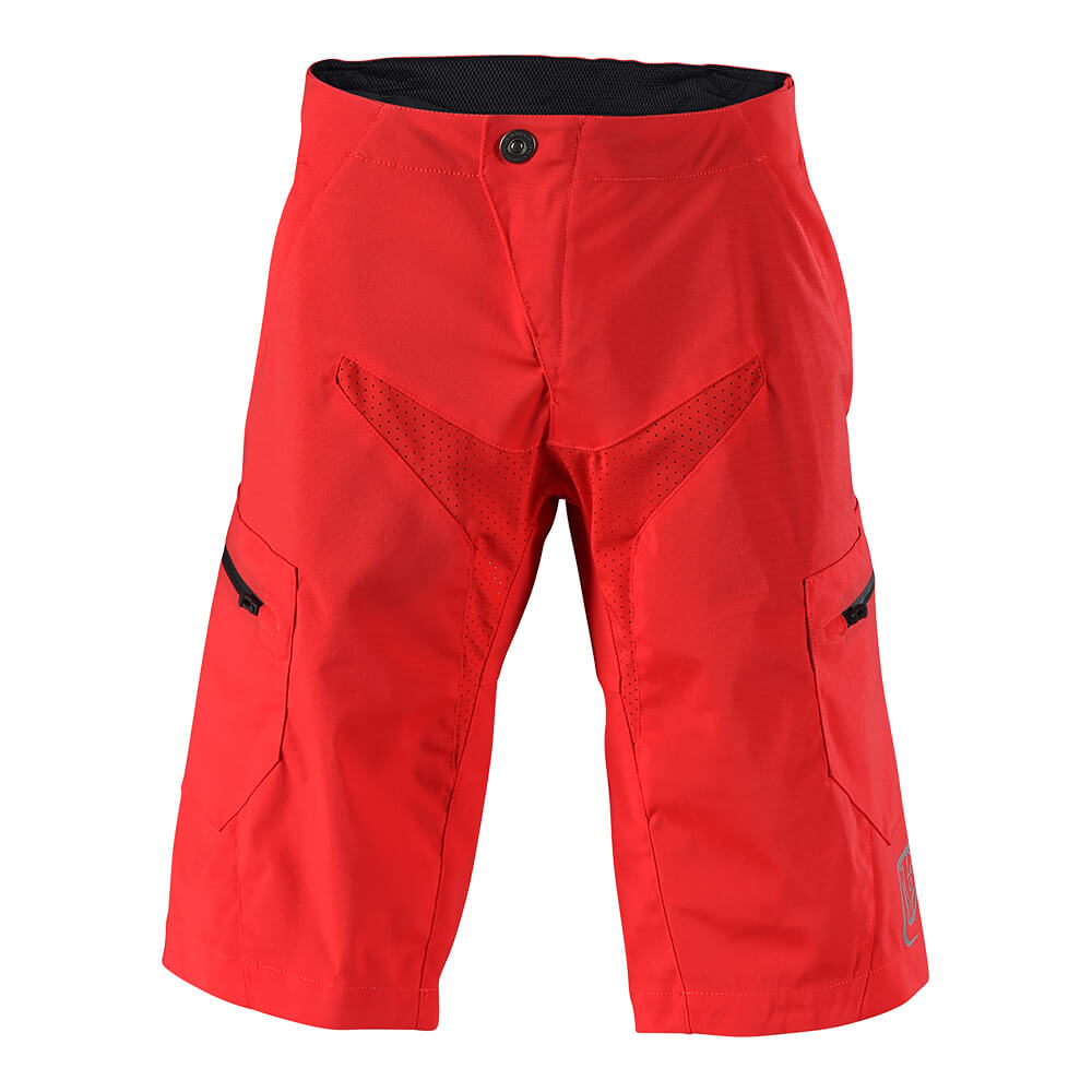 MOTO SHORT SOLID RED