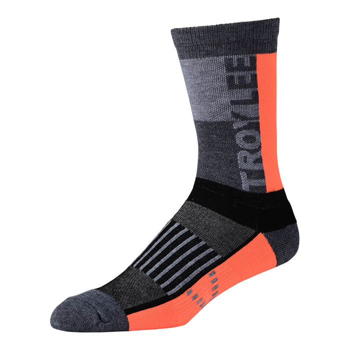 CREW SOCK BLOCK ORANGE