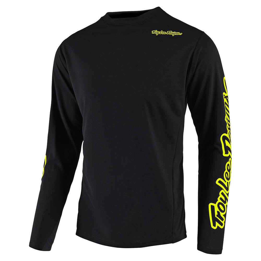 SPRINT JERSEY SOLID BLACK / FLO YELLOW