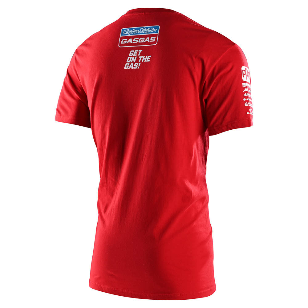 YOUTH SHORT SLEEVE TEE 2021 TLD GASGAS TEAM RED