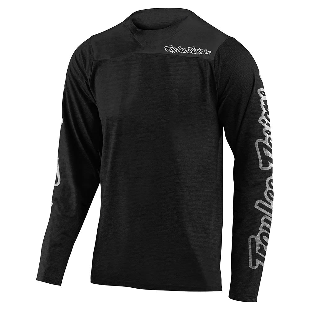 SKYLINE LS CHILL JERSEY SOLID BLACK