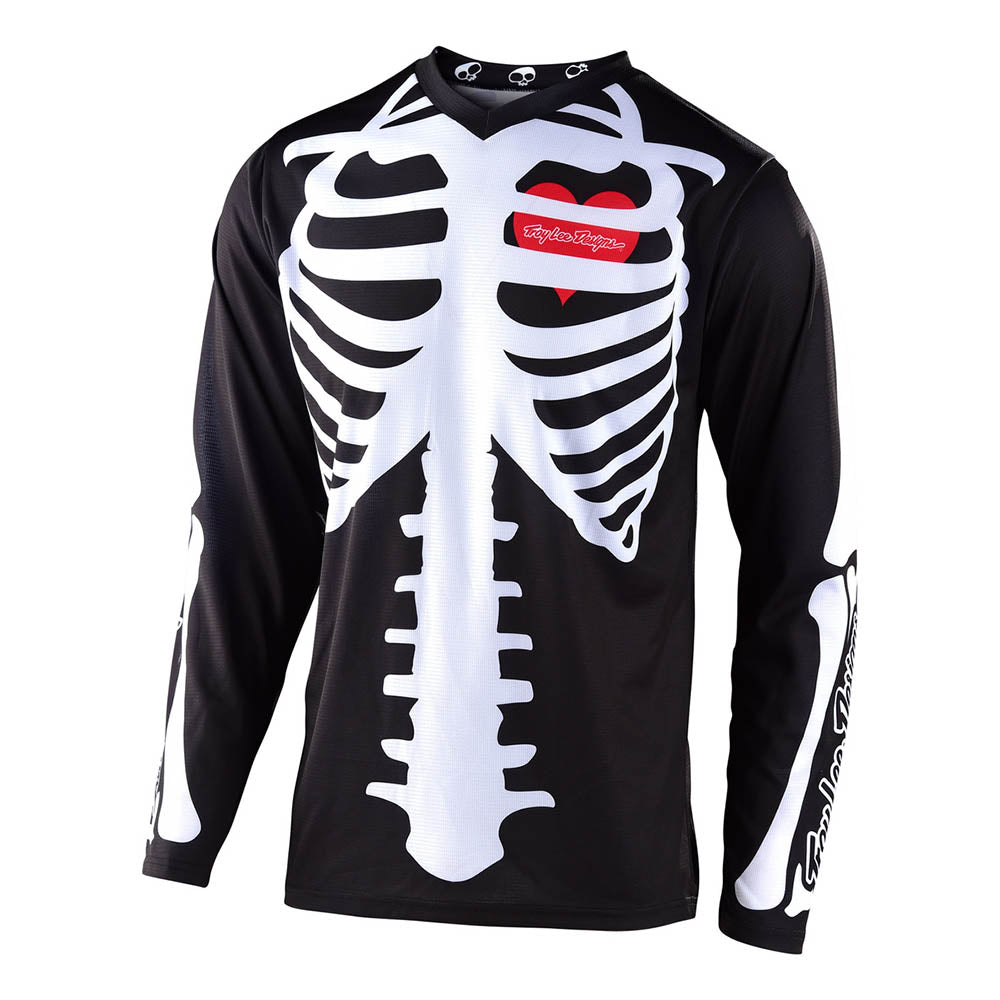 YOUTH GP JERSEY SKULLY BLACK / WHITE