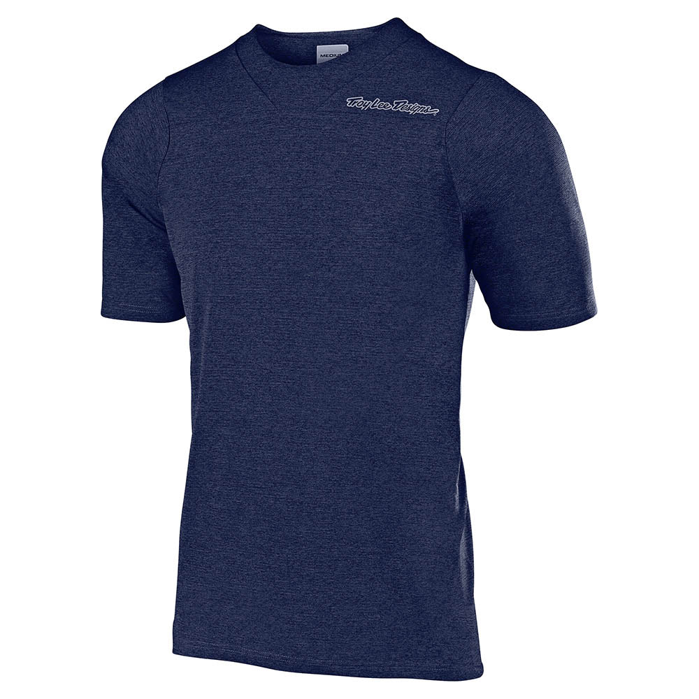 SKYLINE SS JERSEY SOLID HEATHER NAVY