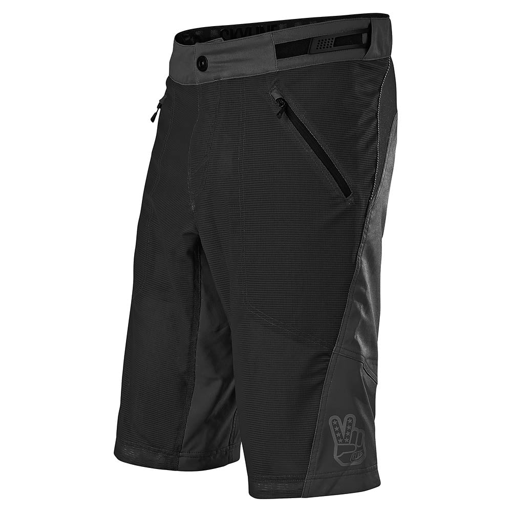 SKYLINE AIR SHORT W/LINER SOLID BLACK