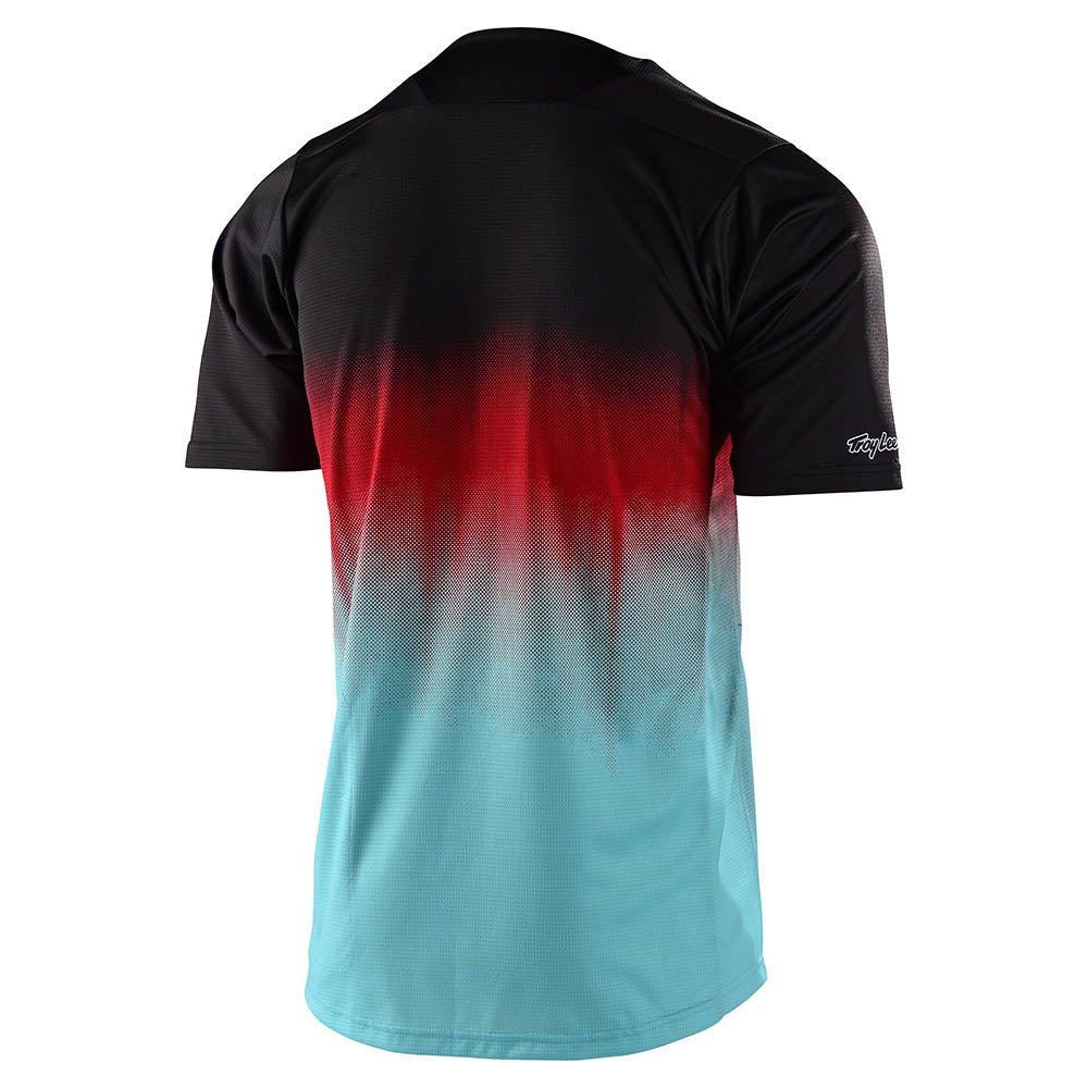 YOUTH SKYLINE SS JERSEY STAIN'D BLACK / TURQUOISE