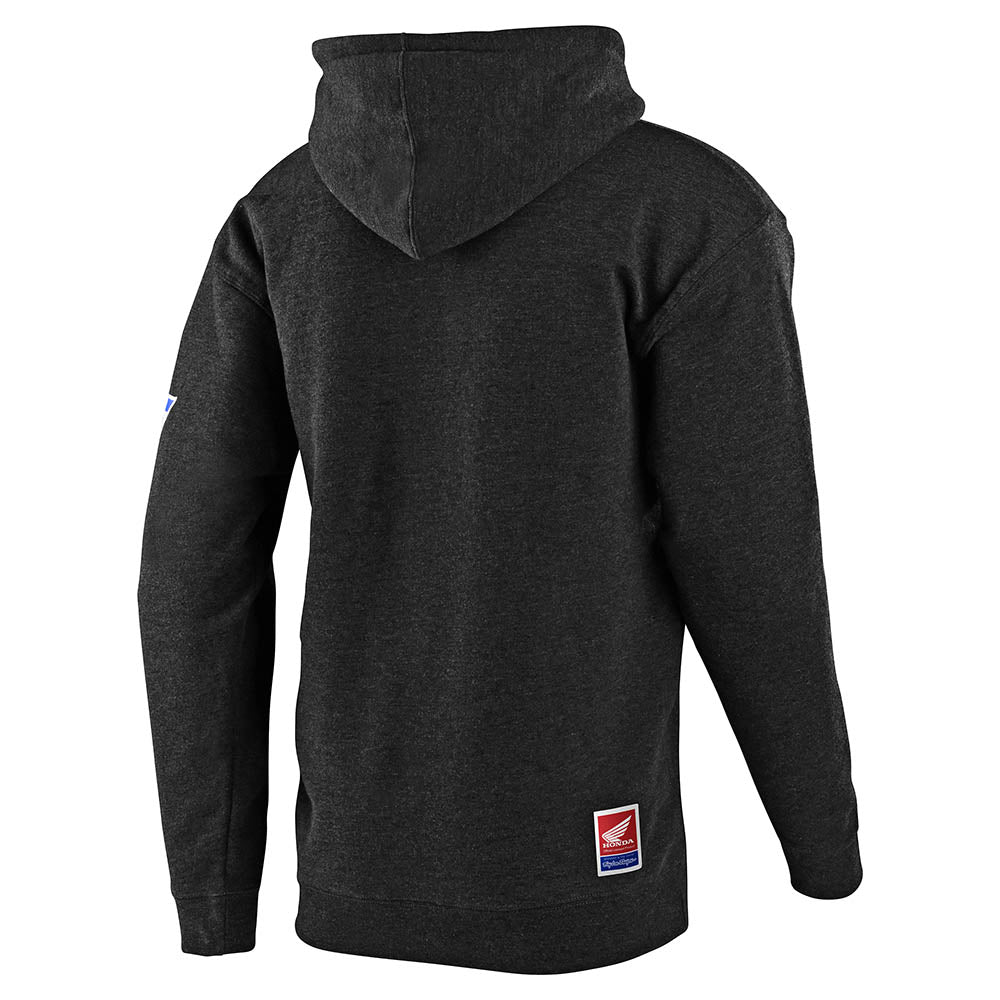 PULLOVER HOODIE TLD HONDA RETRO VICTORY WING CHARCOAL HEATHER