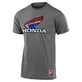 SHORT SLEEVE TEE TLD HONDA RETRO VICTORY WING ASH HEATHER