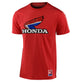 SHORT SLEEVE TEE TLD HONDA RETRO VICTORY WING RED HEATHER