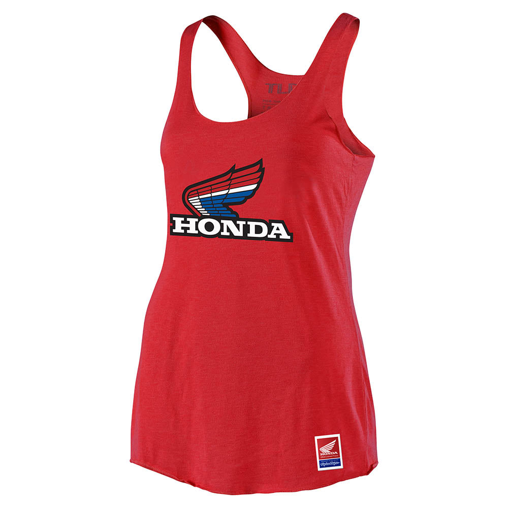 WMNS TANK TLD HONDA RETRO VICTORY WING RED