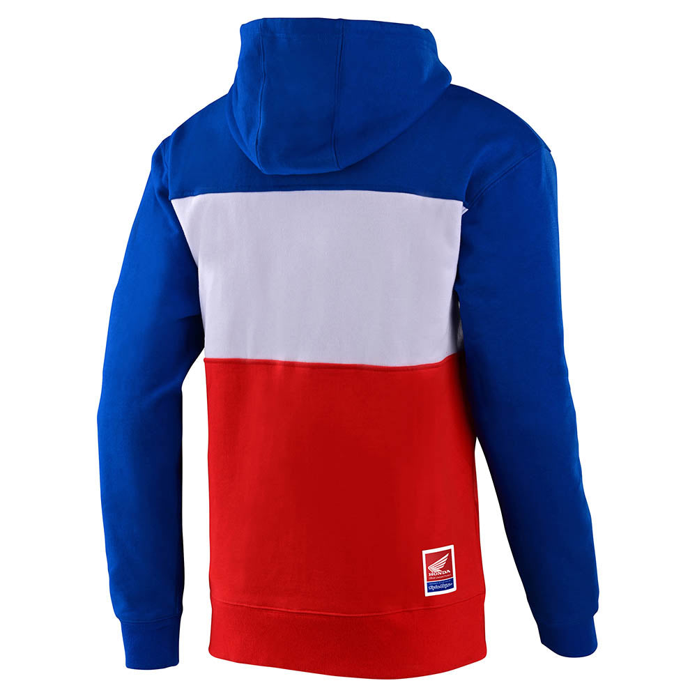 PULLOVER HOODIE TLD HONDA RETRO WING BLUE / WHITE / RED