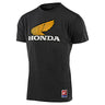 SHORT SLEEVE TEE TLD HONDA RETRO WING CHARCOAL HEATHER