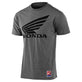 SHORT SLEEVE TEE TLD HONDA WING ASH HEATHER