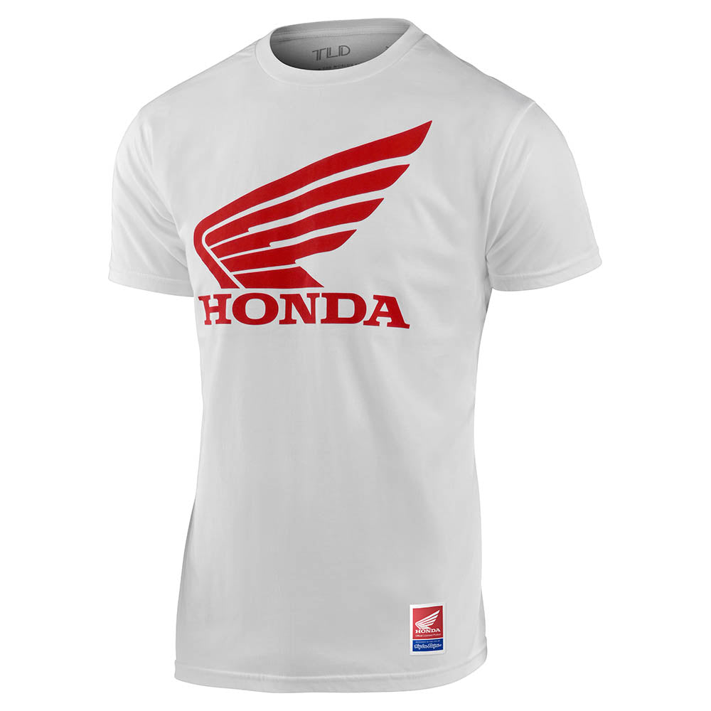 SHORT SLEEVE TEE TLD HONDA WING WHITE