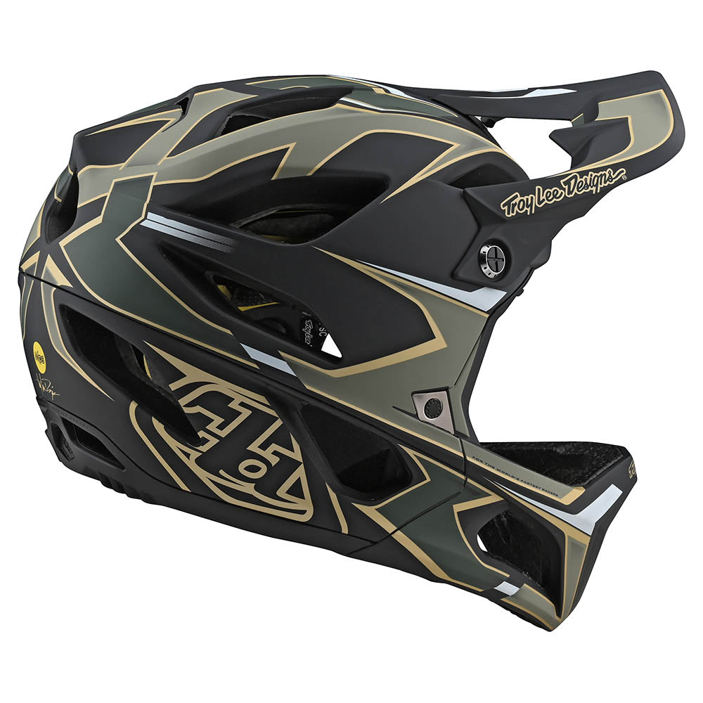 STAGE HELMET W/MIPS ROPO GREEN / GOLD