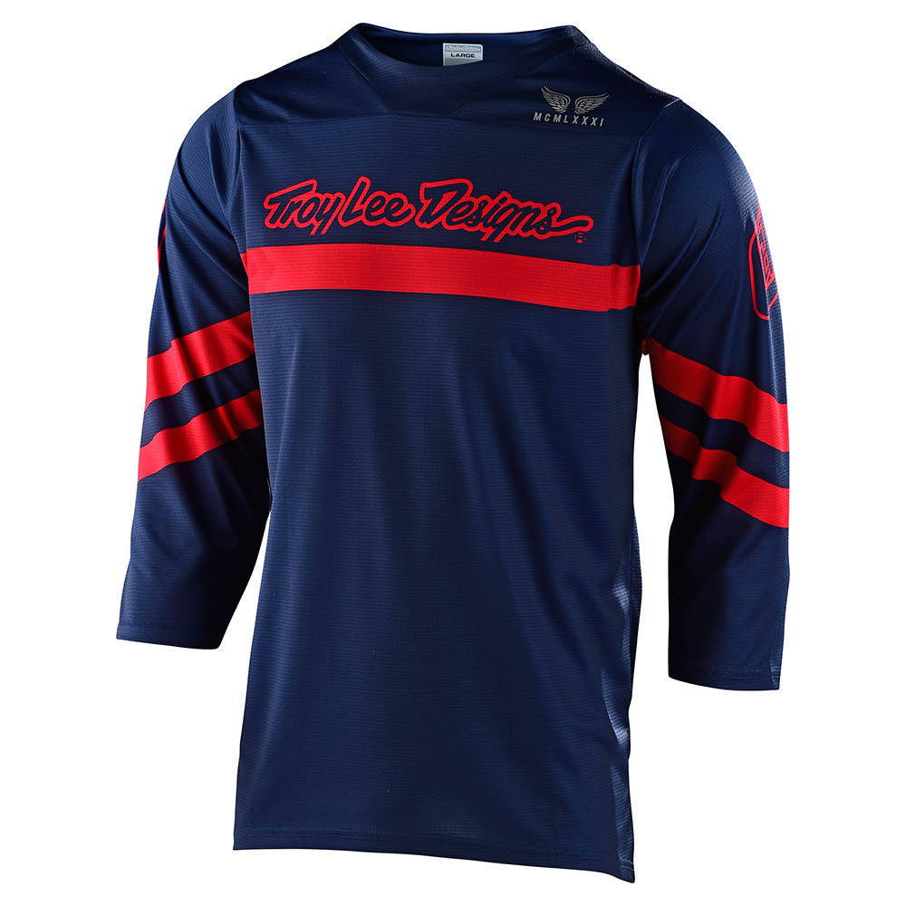 RUCKUS 3/4 JERSEY FACTORY NAVY / RED