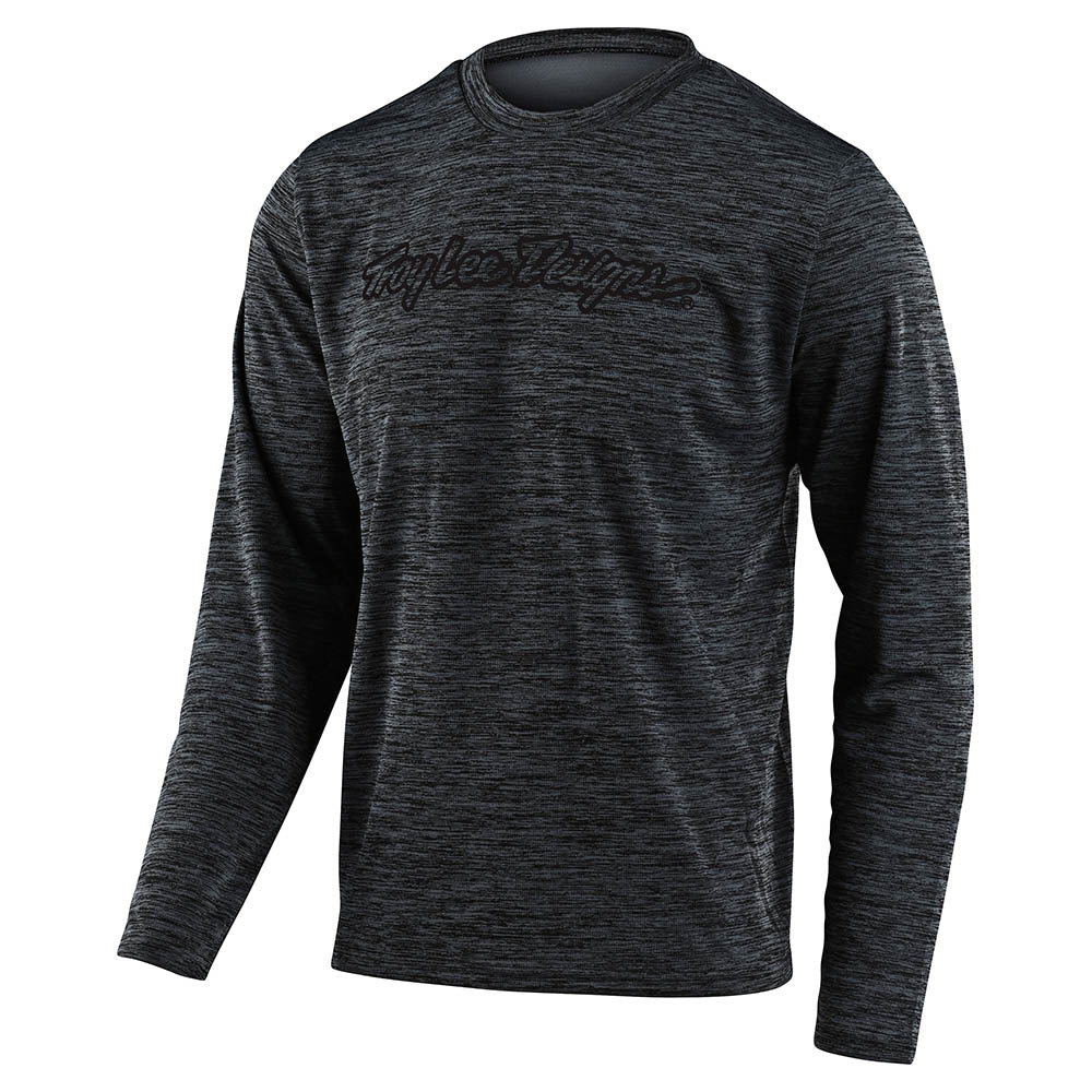 YOUTH FLOWLINE LS JERSEY SIGNATURE HEATHER BLACK / GRAY