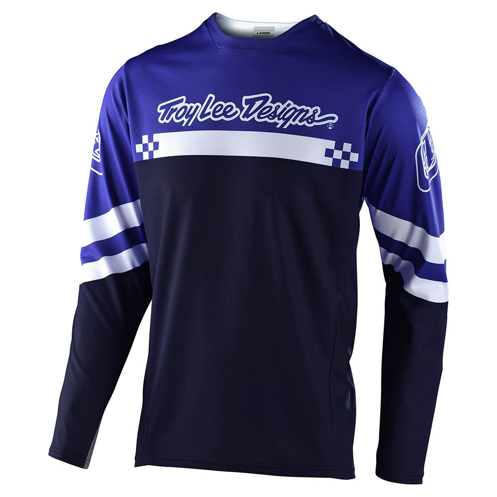 YOUTH SPRINT JERSEY FACTORY ROYAL BLUE / WHITE