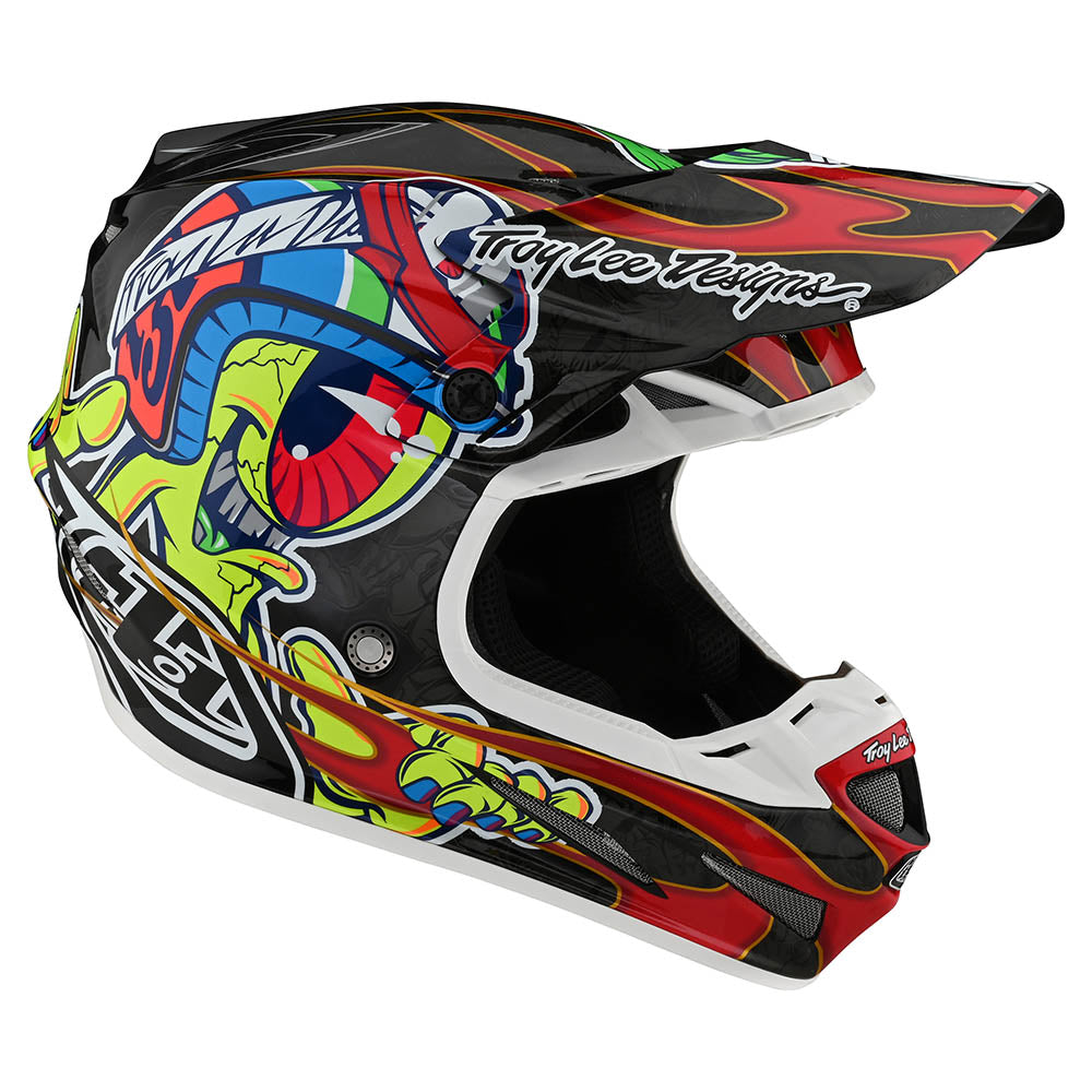 SE4 CARBON HELMET W/MIPS EYEBALL BLACK / RED