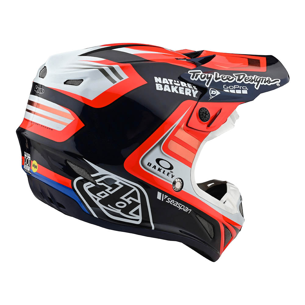 SE4 CARBON HELMET W/MIPS FLASH TEAM BLUE / RED