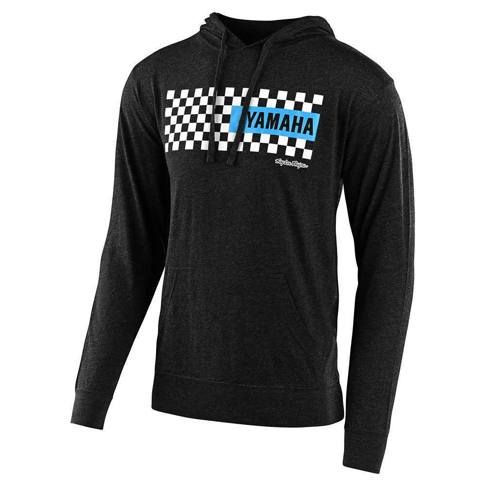 PULLOVER HOODIE TLD YAMAHA CHECKERS CHARCOAL HEATHER