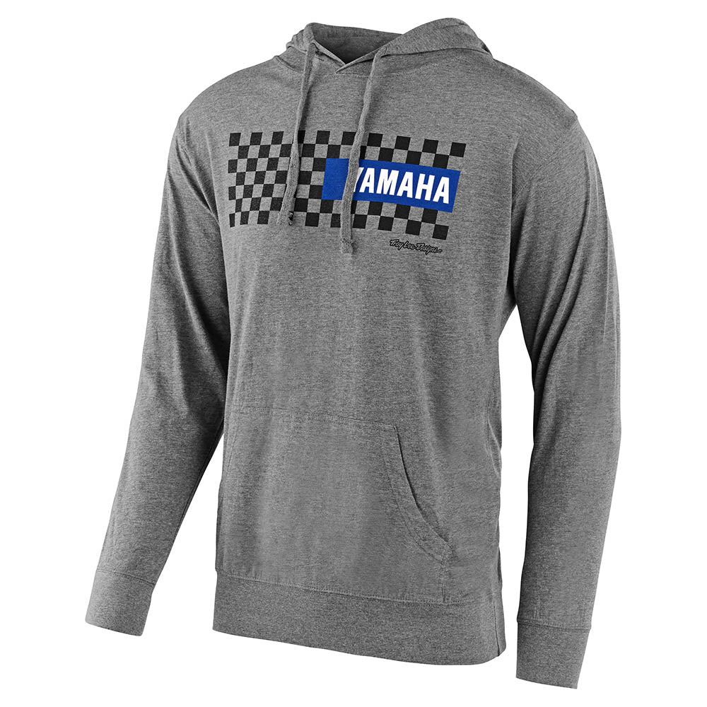 PULLOVER HOODIE TLD YAMAHA CHECKERS GUNMETAL HEATHER