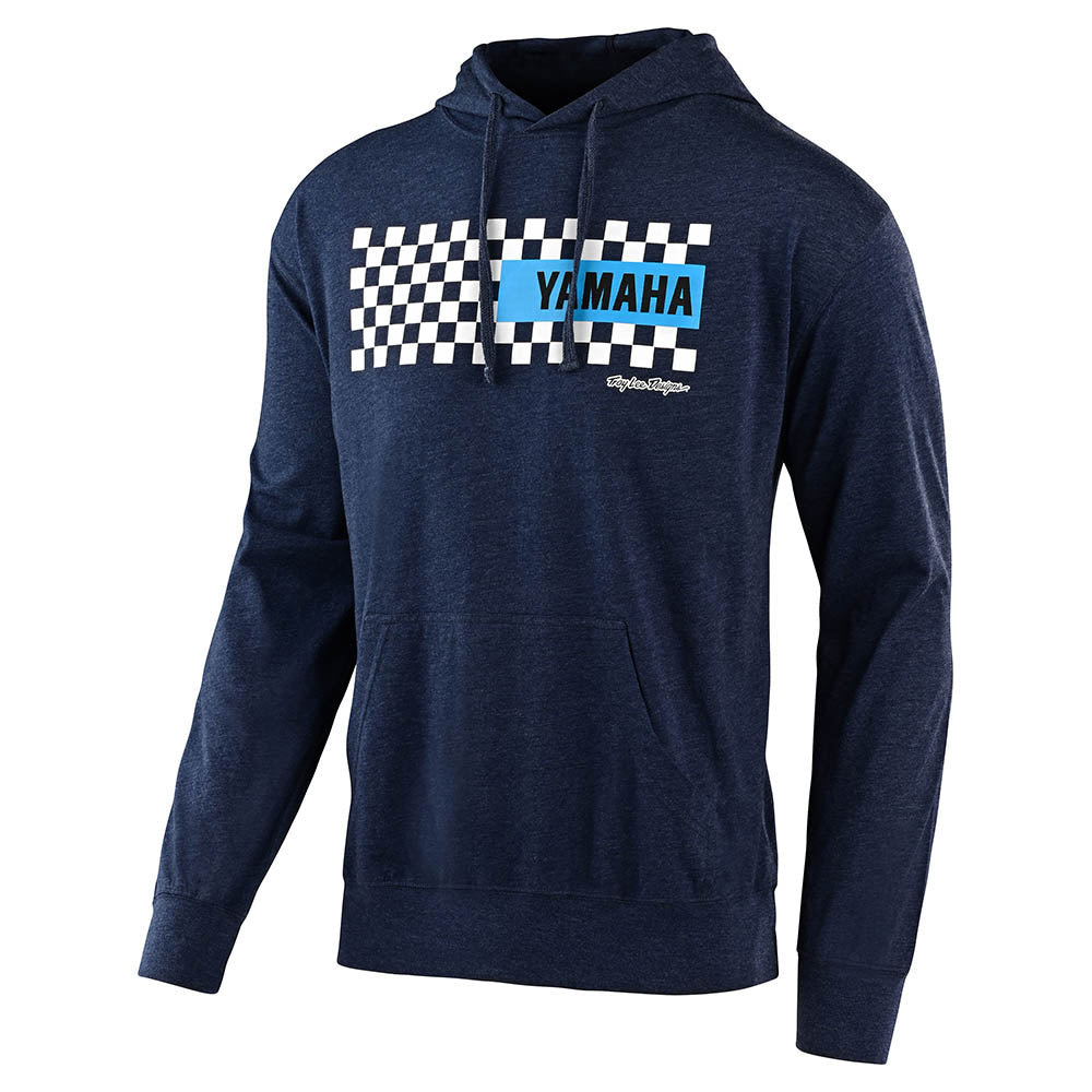 PULLOVER HOODIE TLD YAMAHA CHECKERS CLASSIC NAVY HEATHER