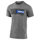 SHORT SLEEVE TEE TLD YAMAHA CHECKERS ASH HEATHER