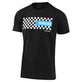 SHORT SLEEVE TEE TLD YAMAHA CHECKERS BLACK