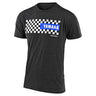 SHORT SLEEVE TEE TLD YAMAHA CHECKERS CHARCOAL HEATHER