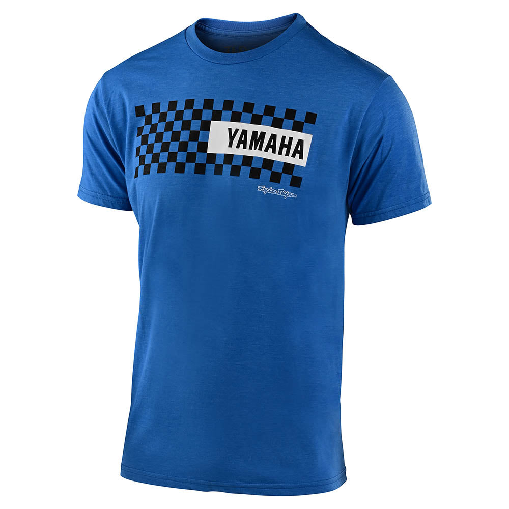 SHORT SLEEVE TEE TLD YAMAHA CHECKERS ROYAL