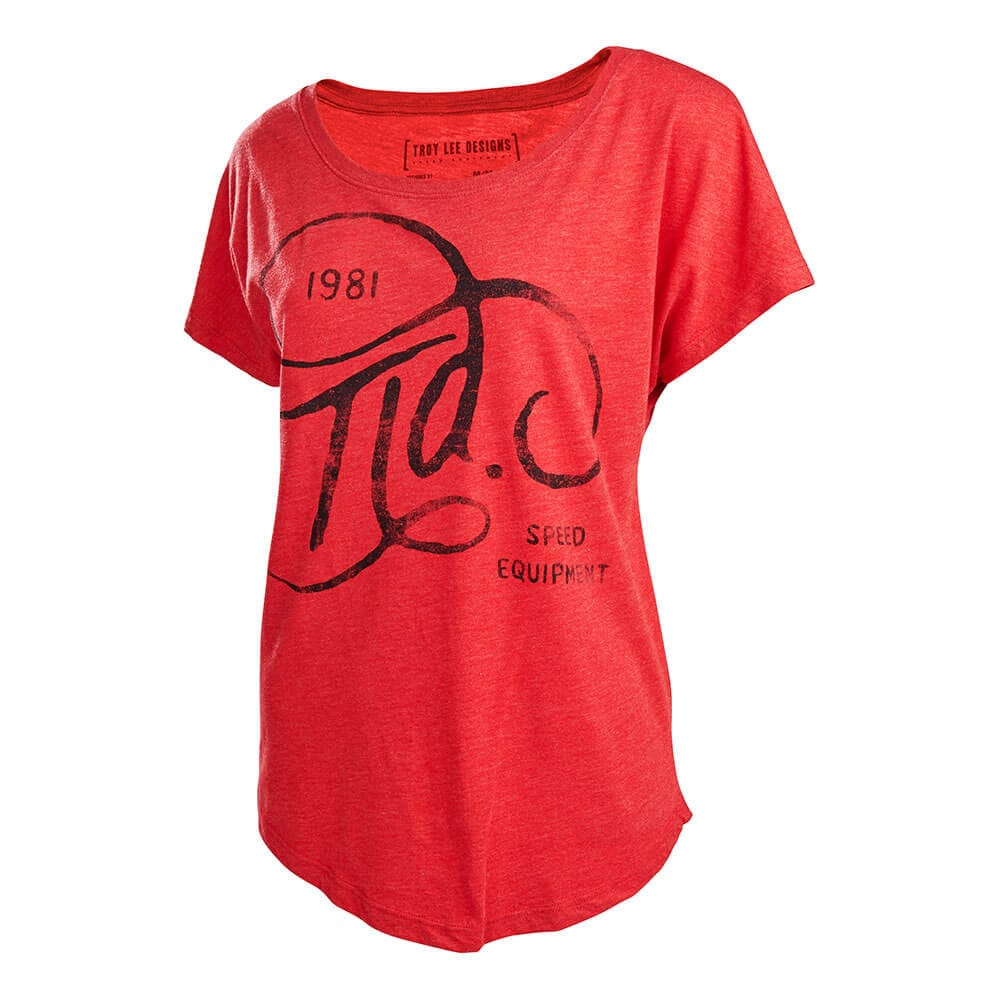WOMENS SHORT SLEEVE AUTOMATIC HEATHER RED