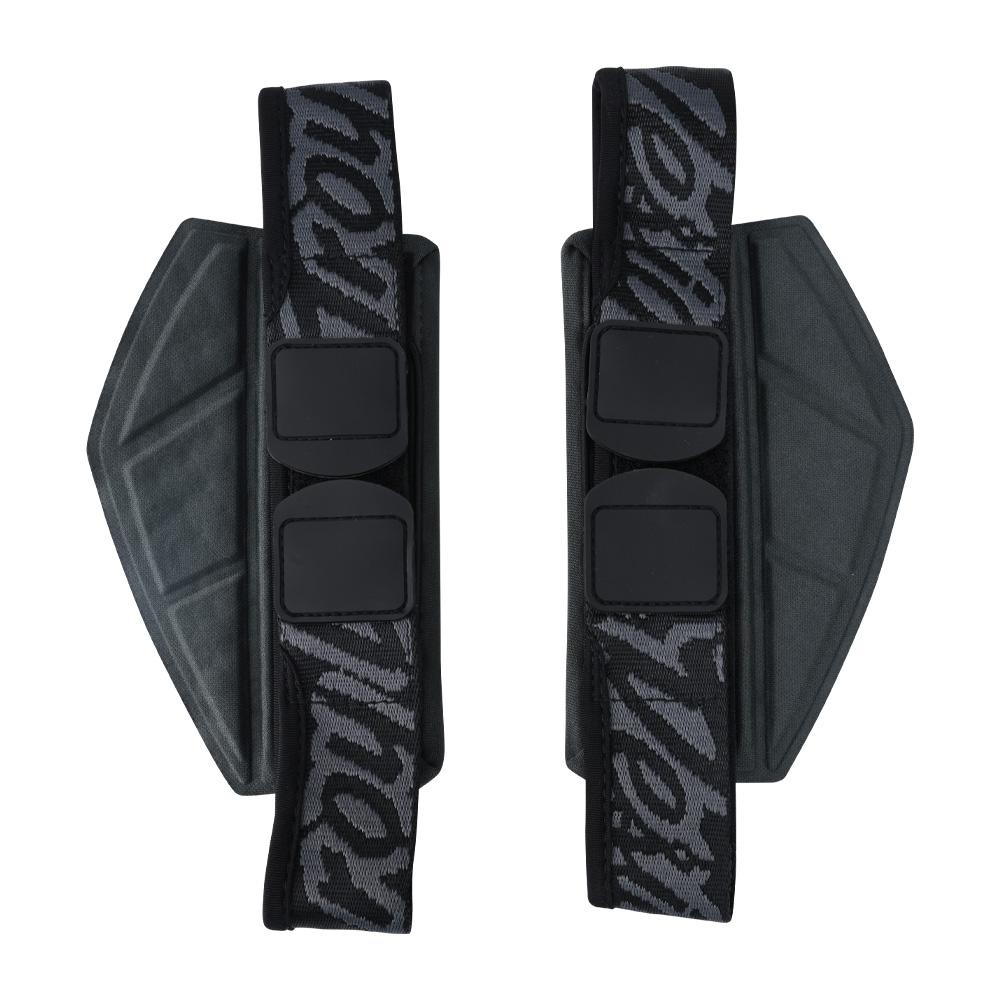 ROCKFIGHT REPLACEMENT SHOULDER STRAPS SOLID BLACK