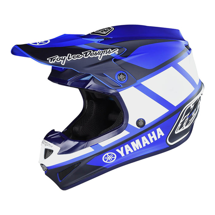 YOUTH SE4 POLYACRYLITE HELMET W/MIPS Yamaha RS1 BLUE