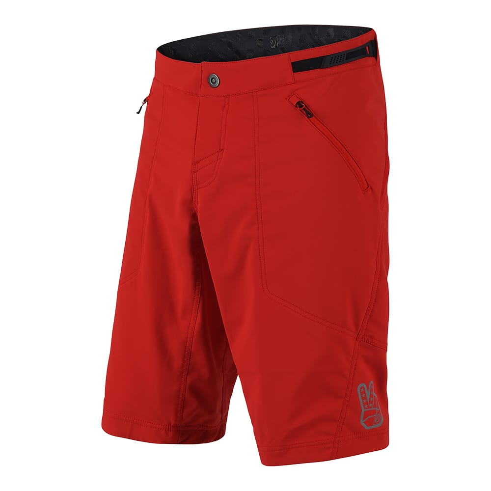 SKYLINE SHORT SHELL SOLID RED